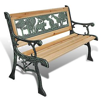 Garden bench durable solid wood chair, children's garden retro and classic style decorative chair