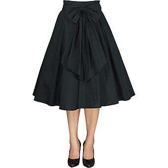 Chic Star Plus Size 1950s Circle Skirt In Black