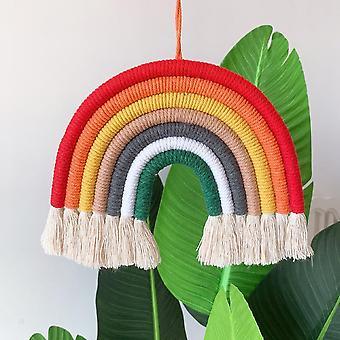Accesorios de fotografía rainbow, decoración de algodón tejido a mano para la fotografía del bebé