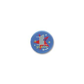 1. Platz Satin Button (Pack von 6)