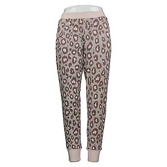 Cuddl Duds Kobiety&s Petite Lounge Spodnie Animal Print Jogger Brown A381803
