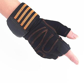 Weightlifting Gloves With Wrist Support For Heavy Exercise, Body Building Gym