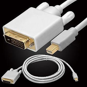 For Lenovo Thinkpad T430 6FT/1.8M Mini DP Display Port Thunderbolt to DVI-D Male Cable