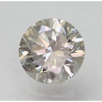 Cert 1.07 Quilates Cinza Marrom VS2 Rodada Brilhante Diamante Natural Aprimorado 6.4m 3VG