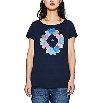 ESPRIT 018ee1k007 T-Shirt, Veelkleurig (Navy 400), X-Small Woman