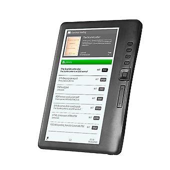 Portable E-book Reader 8gb 7inch Multifunction E-reader Backlight Color Lcd