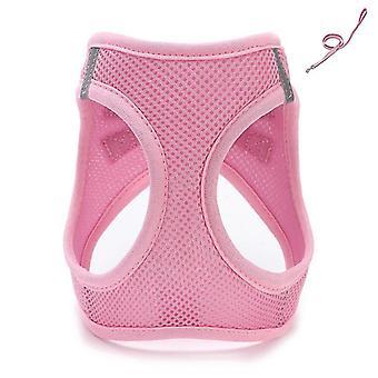 Pink xs câine ham reglabil plasă câine vesta ham cu lesa set lesa pentru animale de companie mici cai269