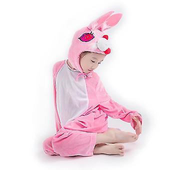 S (110cm) rosa Kaninchen lange Cosplay Anzug Kostüm Bühne Kleidung Urlaub Kleidung cai675