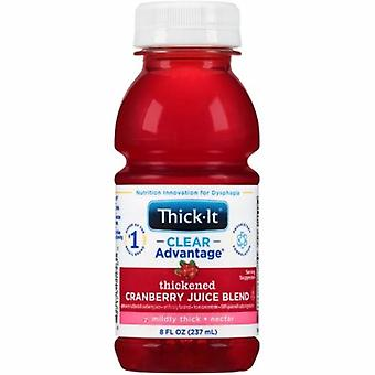 Kent Precision Foods Thickened Beverage Thick-It Clear Advantage 8 oz. Container Bottle Cranberry Flavor Ready to Use N, Cranberry Juice / Nectar 1 Each