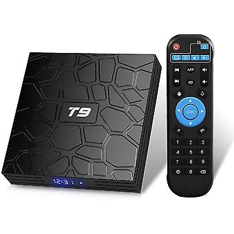 Android TV Box, T9 Android 9.0 TV Box 2GB RAM / 16GB ROM RK3318 Quad-Core TV Box Ondersteuning 2.4GHz /