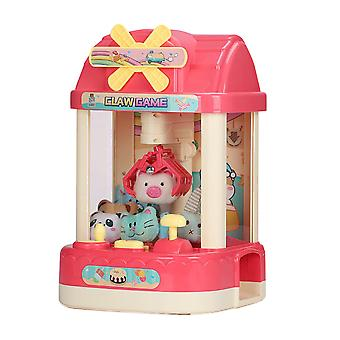 Claw Machine Game Toy Candy Grabber Prize Dispenser Toy with 6 Plush Characters
