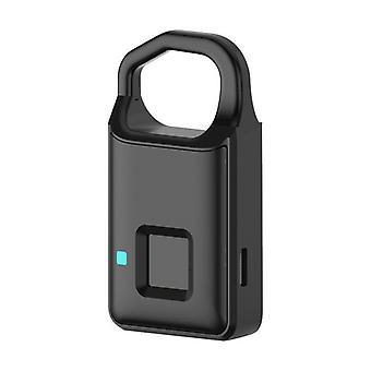 Usb smart electronic fingerprint padlock anti-theft suitcase bag safety lock outdoor travel