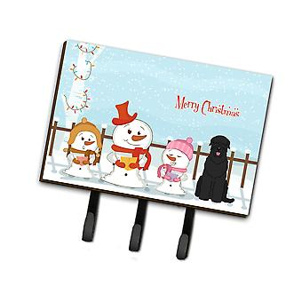Tesoros de Caroline Feliz Navidad Villancicos Negro Ruso Terrier Correa o Titular de llave Bb2357Th68, Triple, Multicolor