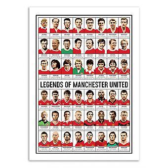 Art-Poster - Legends of Manchester United - Olivier Bourdereau