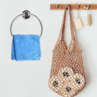 Selvklæbende håndklæde ring til badeværelse rustfrit stål moderne håndklædeholder| Håndklæde ringe