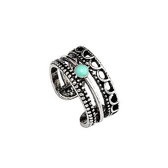 Retro Concise Ring Open Adjustable Alloy Finger Ring For Party