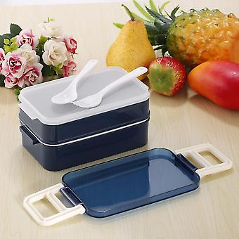 850ml Double Layer Microwave Lunch Box Food Storage Container Bento Boxes