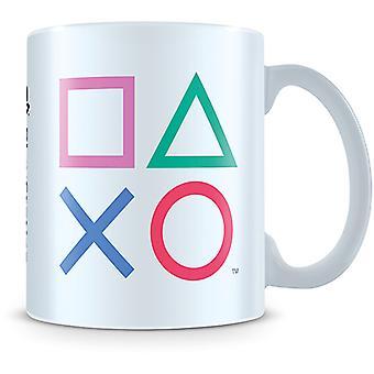 Mugg med Playstation-ikoner