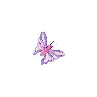 TY Beanie Babies Flitter la Mariposa - Periwinkle y Pink