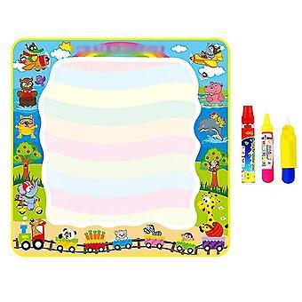 Luxury children's magic doodle mat with magic pens, water colorful mat for children kids activity az5613