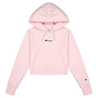 Champion Reverse Weave Cropped Small Script Logo Hooded Sweatshirt 112691PS104 universal all year women sweatshirts