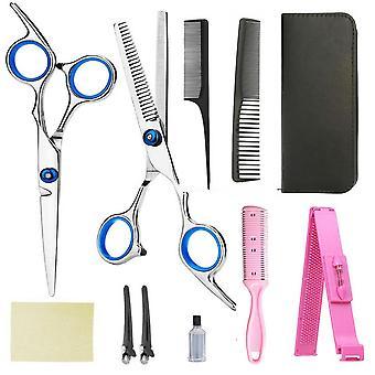 Coupe de cheveux professionnelle & Cisailles cisailles cisaillement des cheveux ensemble avec cas