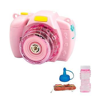 Lustige Magie Musik Kamera Blasen gebläse Maschine Spielzeug Mädchen Jungen Familie Sommer 1pc Electric (Pink)