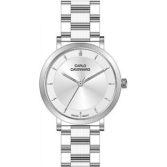 Carlo Cantinaro Silver Stainless Steel CC1002LB002 Women's Watch