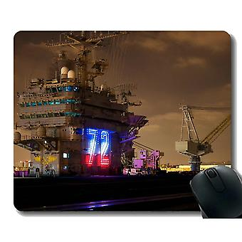 Mouse pads 220x180x3 mouse pad with stitched edge military uss abraham lincoln cvn 72 warship non-slip