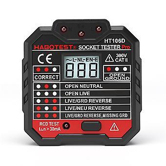 Habotest Ht106b Ht106d Ht106e Steckdose Tester Spannungsprüfbuchse Detektor Eu Stecker Masse Zero Line Stecker Polaritätsphasenprüfung
