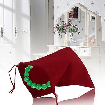 12 *10cm 20db/szett Beautiful Velvet Gift Ékszer tároló Zsinóros tasak