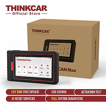 Thinkcar Thinkscan Max Full Systems Obd2 Diagnostic Scanner 28 Reset Service Bi-directional Test Scanner Crp909e