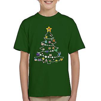 Pokemon Bulbs Christmas Tree Kid's T-Shirt