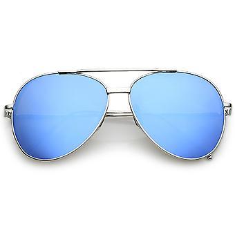 العارضة الكلاسيكية الطيار معدنية النظارات الشمسية الأسلحة ضئيلة لون الدمعة التي لها نسخ متطابقة مسطحة العدسة 56 ملم