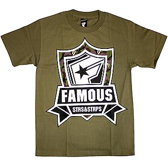 Famous Stars and Straps Mission Camo T-Shirt Military Green