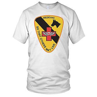 US Army 1 kavaleri Medevac slik at andre kan leve rent effekt - Vietnam-krigen Mens T-skjorte