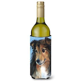 Sheltie dobry chłopiec wino butelka napoju izolator Hugger
