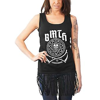 Bring Me The Horizon Vest Crooked young Official Womens Black Top with Tassels