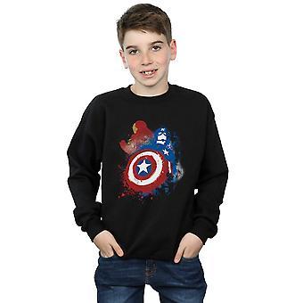 Marvel jungen Captain America Bürgerkrieg gemalt Vs Iron Man Sweatshirt