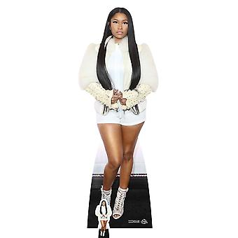 Nicki Minaj White Fur Jacket Lifesize Cardboard Cutout / Standee
