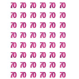 Verjaardag Glitz Pink - 70e verjaardag Prism hangende decoratie