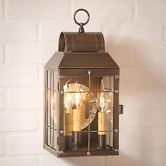 Irvin's Country Tinware Martha's Wall Lantern in Weathered Brass