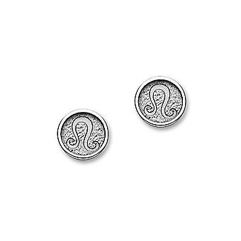 Sterling Silver Traditional Contemporary Astrology Zodiac Sign Design Pair of Earrings - E1854