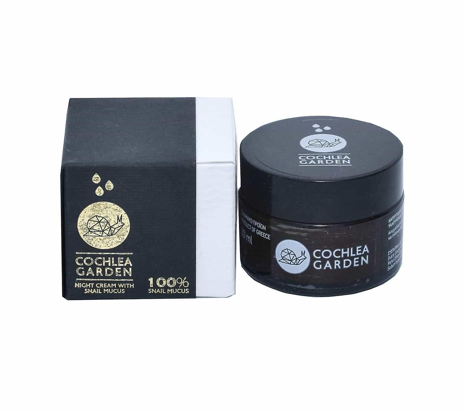 Facial Night Cream, For all skin types. with snail mucus