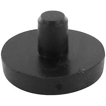 Picior negru (Ø x H) 17 mm x 10 mm 1 buc (e)