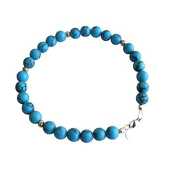 Gemshine - ladies - bracelet - turquoise - blue - Silver 925 - 6 mm