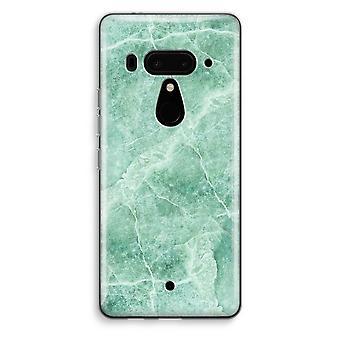 HTC U12 + przezroczyste przypadku (Soft) - zielony marmur