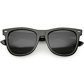 Klassisk Hornet Rimmed solbriller Metal nagler Wide Arms Square linsen 52mm