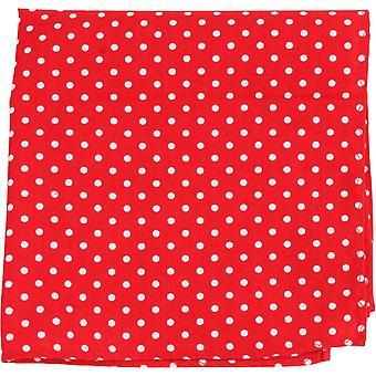Найтсбридж Neckwear полька точка карман площадь - красный/белый