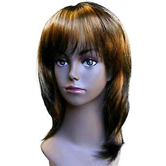 Fashion kvinnor medium rak E DEBRA YP5 275 professionella peruk